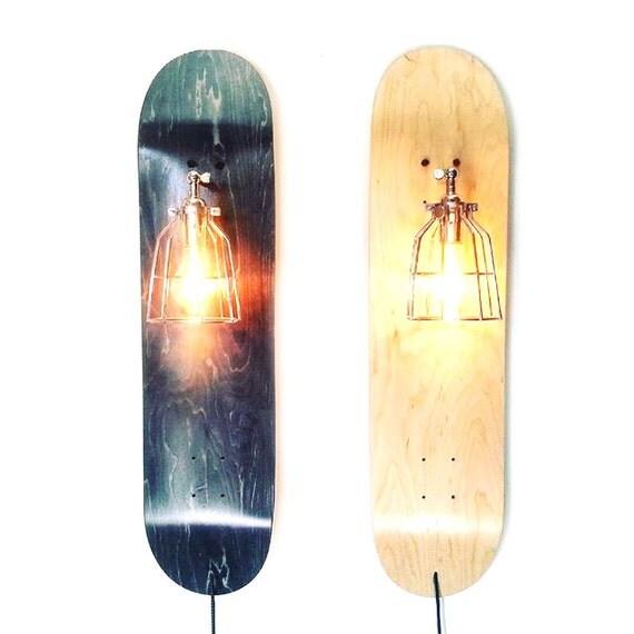 Skate Sconce Repurposed Skateboard Lamp Industrial By