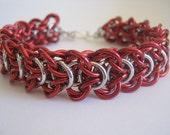 Fire Engine Bracelet Aluminum Chain Maille
