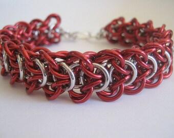 Fire Engine Bracelet Aluminum Chain Maille