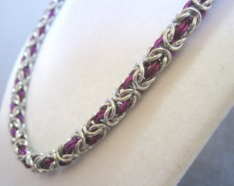 Valiant Violet Aluminum Chain Maille Jewelry Set