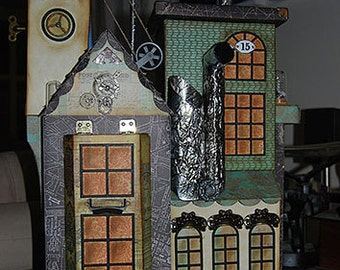 Steampunk House with Pull Out Album