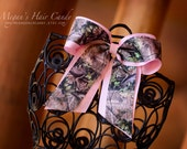 Custom ORANGE and Realtree Camo Cheer Bow