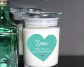 Bridesmaid Custom Candle jar candle birthday gift Bridesmaid Gift custom candle custom name or text