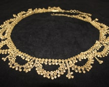 Ladies Gold Chain With Bells Gypsy Indian Belly Dancing Belt