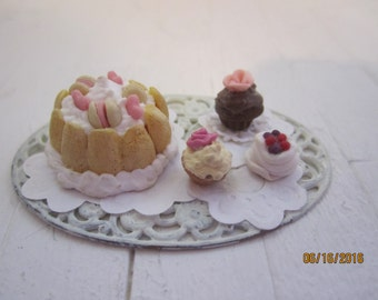 Miniature Tray of Deserts    Free Shipping