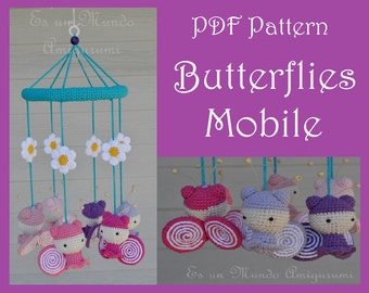Butterflies Mobile Amigurumi Pattern