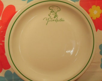 Iroquois China Plate Your Hostess Vintage 1960s