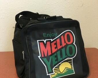 Mello Yellow Duffel Bag, Vintage Duffle Bag, Mellow Yellow; duffel suitcase