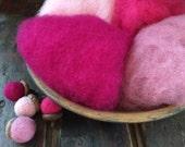Needle Felting Wool-Rose Garden Wool Sampler-Wet Felting Wool