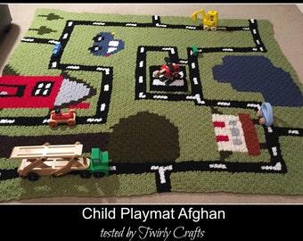 C2C Graph, Play Mat Afghan, C2C Graph,  Written Word Chart, child graph, playmat c2c, c2c afghan