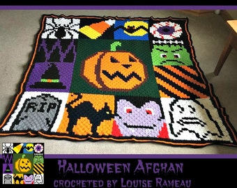 C2C Graph, Halloween Afghan, C2C Graph, & Written Word Chart