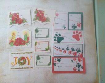 Vintage Christmas Gift Tags, Vintage Christmas Ephemera-Gift Tags Lot B