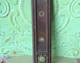 Vintage Large Escutheon Plate, Metal Crafting Supplies, Home Decor Metal, Jumbo Escutheon