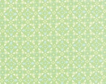 Canyon by Kate Spain for Moda - Geometric - Four Corners - Light Green - Cactus - FQ - Fat Quarter Cotton Quilt Fabric 516
