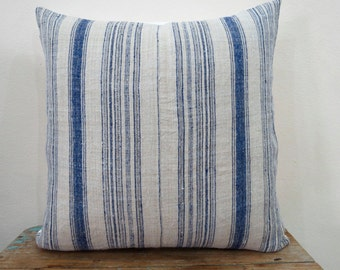 """Hemp ,20""""x 20""""Vintage Textile Decorative Cushion cover, Tradition Ethnic fabric from Thailand"""