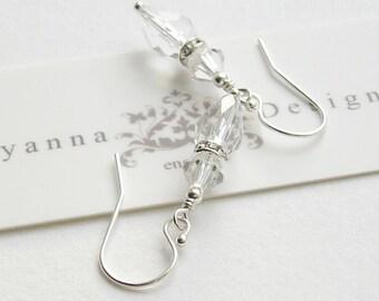 Crystal Bridal Earrings, Wedding Earrings, Bridesmaids Gifts