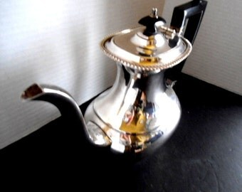 Vintage Sheffield Silver Plated Teapot / Coffee Pot with Hinged Lid EPNS Made in England