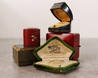 LOT of FIVE Jewellery Boxes..Antique & Vintage Boxes...Bargain!