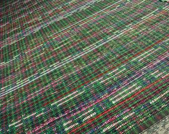3 x 8 foot green rag rug