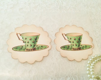 Tea Party Favors and Stickers-Luncheon gifts and favors-Kitchen Seals and Labels-Set of 12