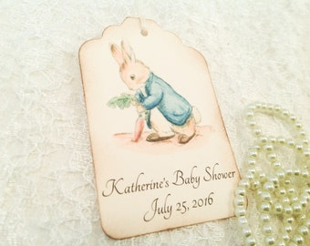 Personalized Thank You Favor Tag-Peter Rabbit Tags-Peter Rabbit Shower Birthday-Set of 12