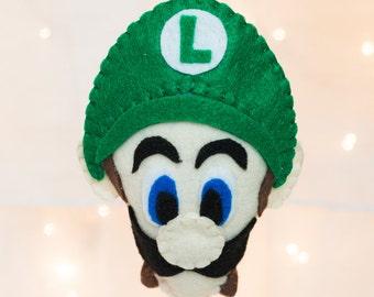 Felt Luigi Ornament - Felt Super Mario Ornament