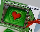 Send Dr Seuss inspired Grinch Christmas Cookies by Special Delivery for Story Time - Spiced Cider & Cinnamon, Quantity: 2 / Item #1002029