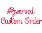 Custom Order for Sylvanna