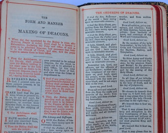 Edwardian Oxford University Press Book of Common Prayer and Administration of the Sacraments Vintage Religion Prayer Worship Christianity