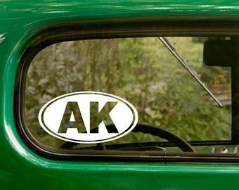 Oval Alaska Decal, 2 stickers, Alaska Sticker, Laptop Sticker, Oval Sticker, Car Decal, Bumper sticker, Vinyl Decal, Car Stickers