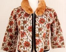 Vintage Fur Neck Collar / Peter Pan Collar