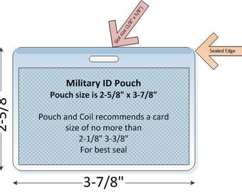 ID Tag (Military size) Laminating Pouch, Slotted (5 MIL)