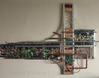 Industrial abstract Wall Sculpture -