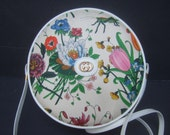 GUCCI Rare Flora Canteen Style Shoulder Bag c 1970s