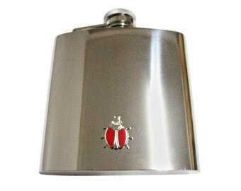 Red Bug 6 oz. Stainless Steel Flask