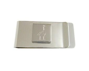 Engraved Goose Money Clip