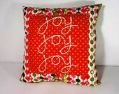 Joy Joy Joy! Christmas Pillow, Christmas Decoration, Holiday Decor