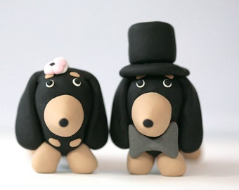 Dachshund Wiener Dog Wedding Cake Topper