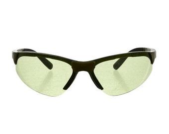 10,000 LIKES 7 Day Sale PRADA Sport Futuristic / Sci Fi Green Lens Speed Dealer Avant Garde 90s Vintage Sunglasses - So Rare!