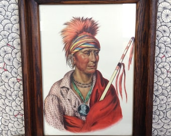 Antique Indian cheif lithograph