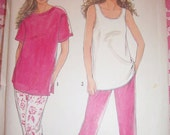Simplicity Pattern 7244 Sz 8-20 It's So Easy Misses Tops & Pants With or Without Sleeves