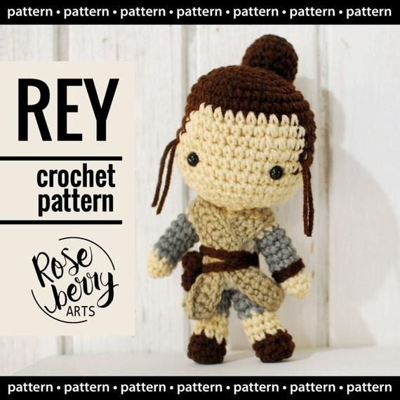Rey Amigurumi Star Wars : Rey Crochet Pattern Instant Download Rey from Star Wars