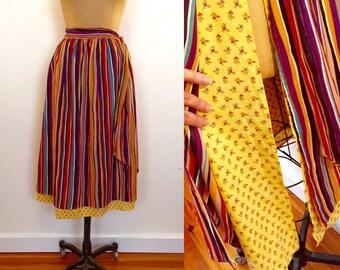 Giorgio Sant Angelo Majer-Parts cotton apron two layer sude tie skirt