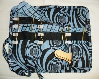 CIRCULAR knitting needle organizer case storage holder, holds 12 circular needles