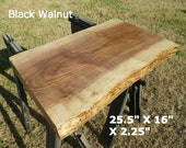 Live Edge Black Walnut Finished Wood Slab DIY Floating Shelf, Natural Edge Table, Work Station, Foyer Table Top, Live Edge Coffee Table 2069