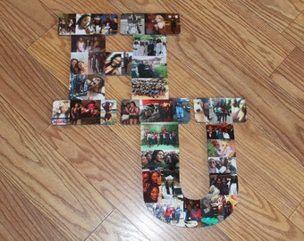 Custom Shape, Birthday Gift, Photo Collage, Nursery Wall Decor, Wall Hanging Decor, Any Shape Can be Made