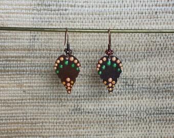 Aboriginal Dot Painted Earrings