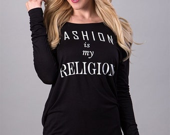 Fashion is My Religion Top in Black