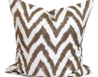 Pillow.BROWN PILLOW.26x26 inch.Pillow.Pillow Cover.Decorative Pillows.Housewares. ZigZag.Zig Zag.Cushion. Pillow Cover.Pillow.Cushion.Home