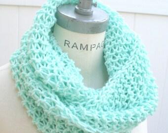Mint Green Scarf  scarfs, most Popular item, Hand Knit neckwarmer, Knitted items, Women Fashion, Winter Scarf - by PIYOYO